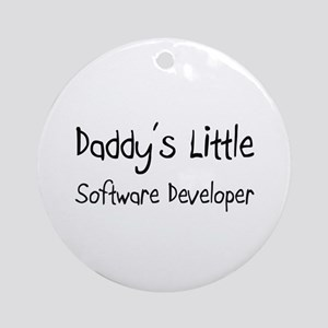 Daddy's Little Software Developer Ornament (Round)